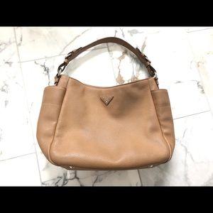 Prada Vitello Daino hobo bag tan leather